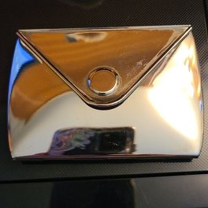 Pocket mirror made of highly polished Metal